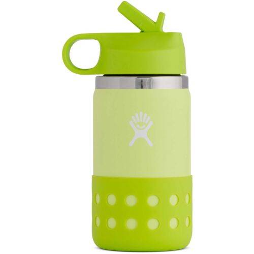 Hydro Flask 12oz / 354ml Wide Mouth Kids Straw Lid & Boot Ice