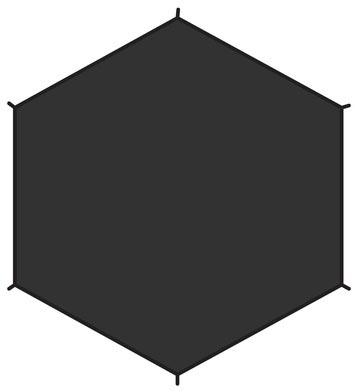 Imagem de Fjällräven Dome 2 Footprint Black