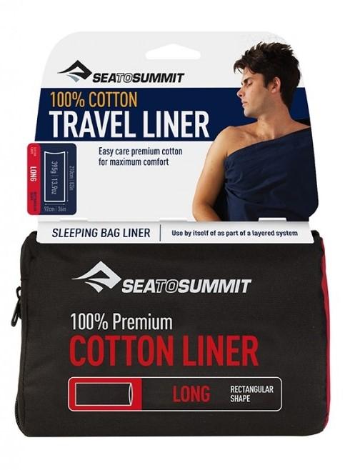 Bilde av Sea to Summit Premium Cotton Liner Long Navy