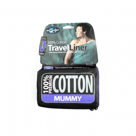 Bilde av Sea to Summit Premium Cotton Liner Mummy Navy