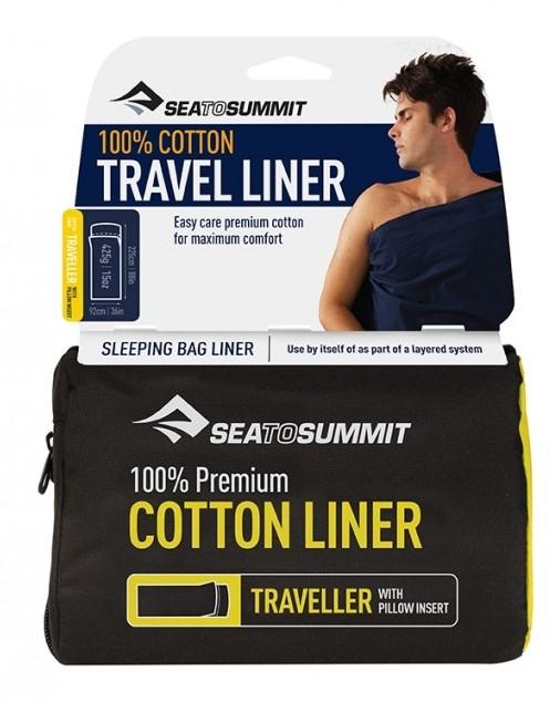 Bilde av Sea to Summit Premium Cotton Liner Traveller Navy