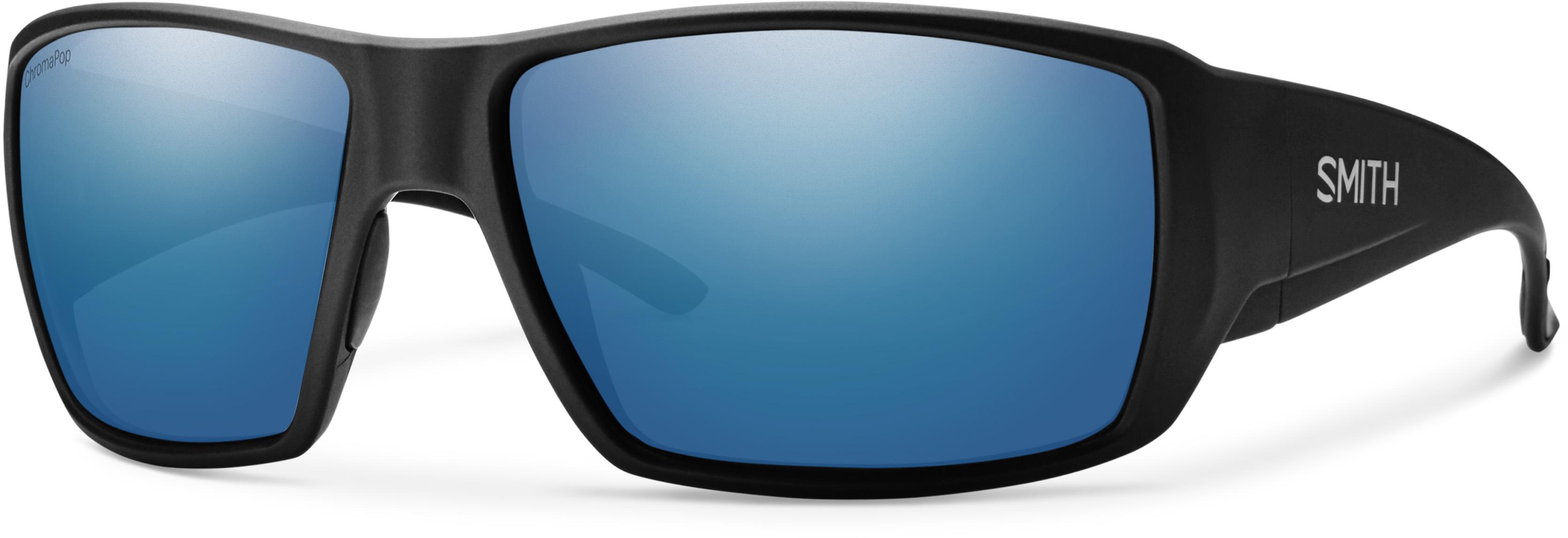 16b949fc29 Smith Guide s Choice Matte Black ChromaPop Blue Mirror Polarized -  Sunglasses - Protections